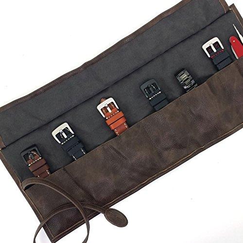 Travel Roll up Watch Case Organizer for Apple Watch Bands Straps Accessories (Case Strap Watch)