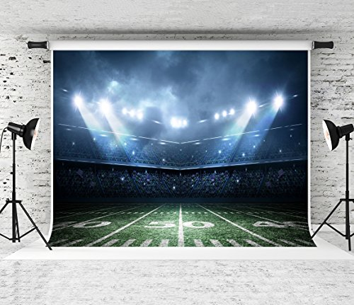 Football Field Background (Kate 7x5ft Football Field Photography Backdrop Spotlights Customized Background for Photo Studio)
