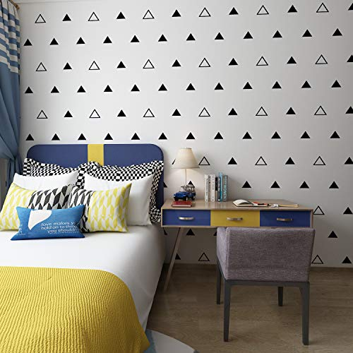 FOAL Triangles Wall Pattern Outline & Solid Vinyl Decal Stickers (Black 3