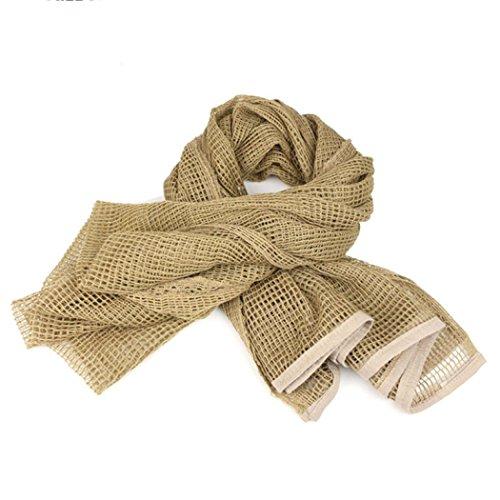 Fur Trim Tweed - iHPH7 KeffIyeh Scarf, Military Men Arab Tactical Desert Army Net Cloth Shawl