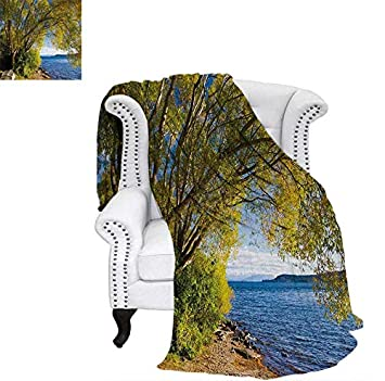 84c6d1c2eae Super Soft Lightweight Blanket Small Boat Under Tree by The Lake North  Island New Zealand Picturesque