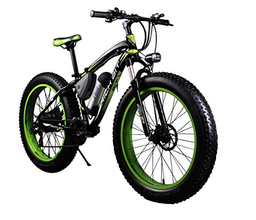 RICH BIT TP012 Electric Fat Bike Mountain Bicycle Snow Bike Cruiser Ebike 350W Motor 36V Lithium Battery Dual Brakes with Shimano 21 Speeds System 26'' 4.0 inch Fat Tire Suspension (26' Cruiser Bicycle Tire)