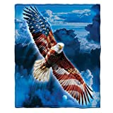 American Eagle Fleece Throw Blanket