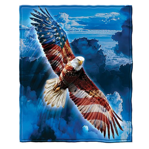 - Dawhud Direct American Eagle Fleece Throw Blanket