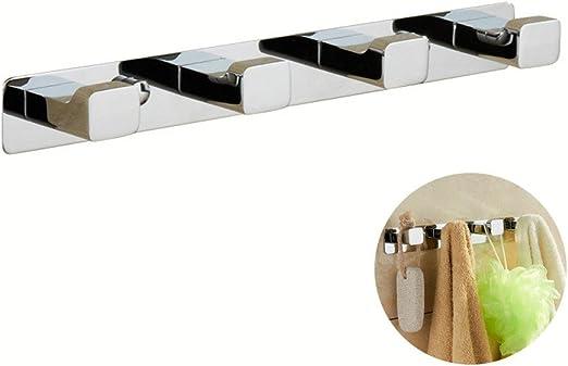 Salle de bains moderne accessoire double Serviette Peignoir Crochet En Chrome Acier inoxydable mur porte