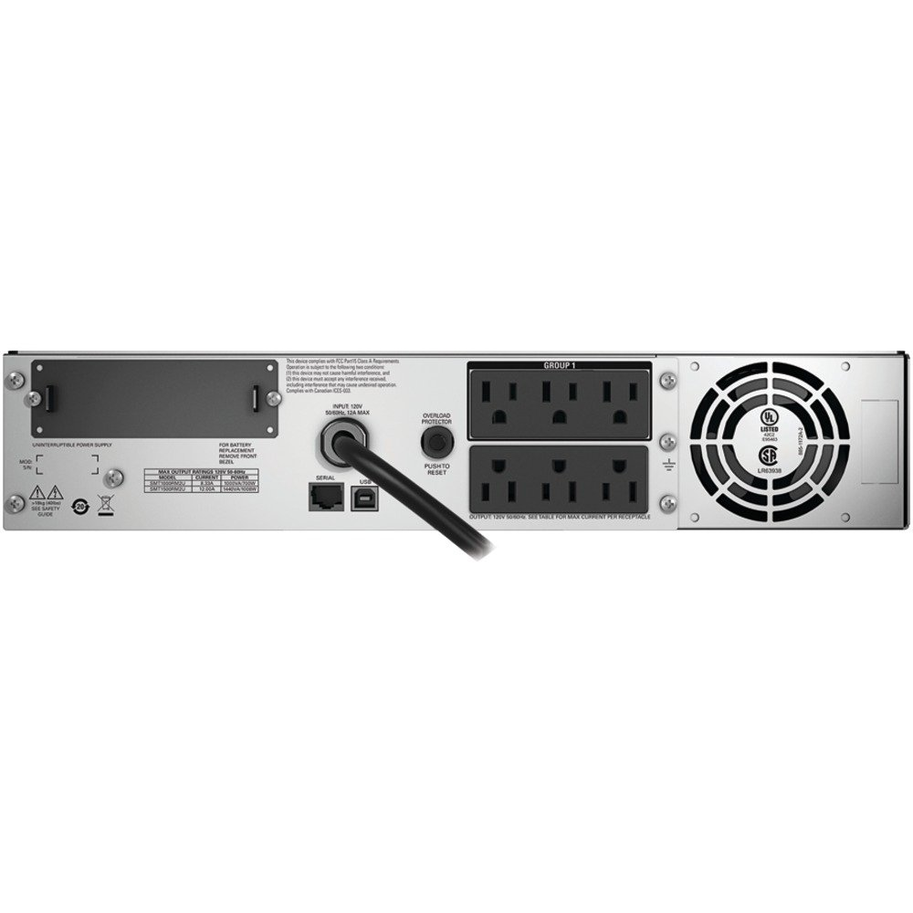APC Smart-UPS RM SMT1500RM2U 1000W/1440VA 2U Rackmount LCD UPS System by APC
