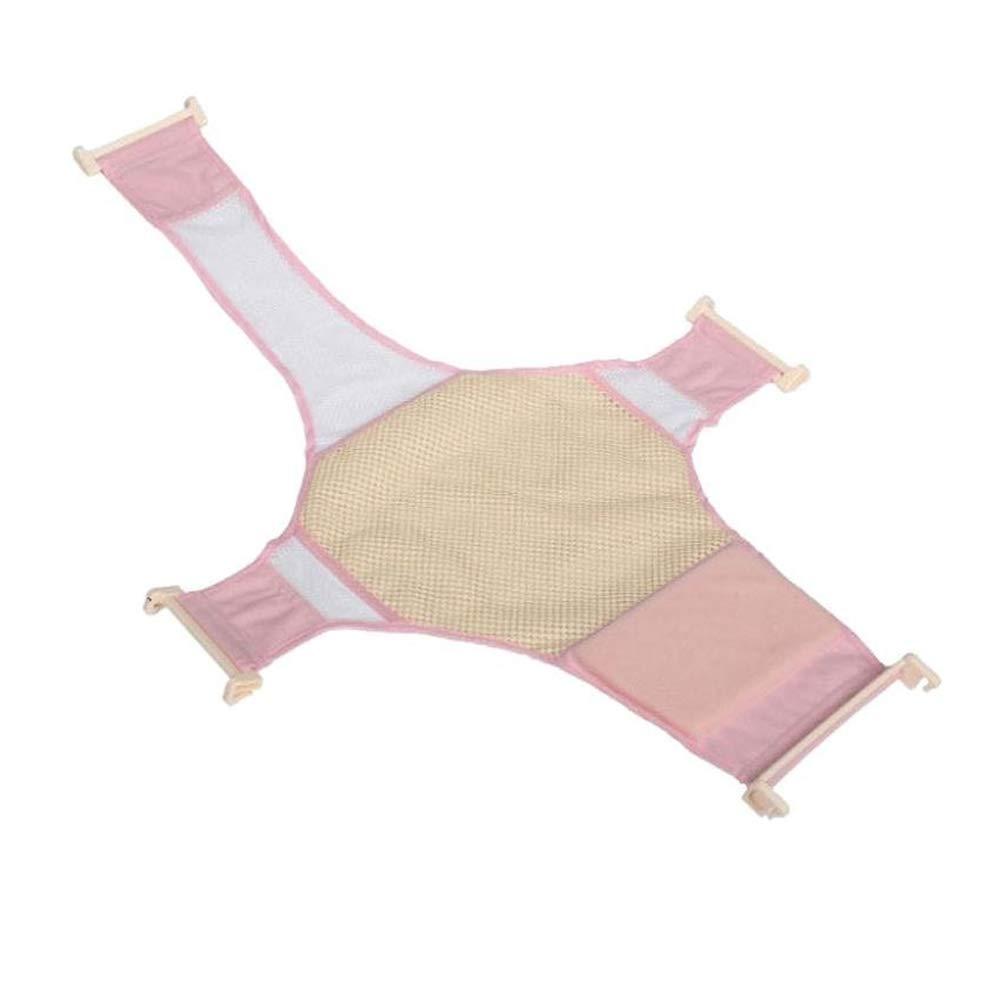 Newin Star 86.8 58cm del beb/é reci/én nacido Ba/ño red de seguridad infantil Masaje Ba/ño Soporte de ba/ñera rosa neto