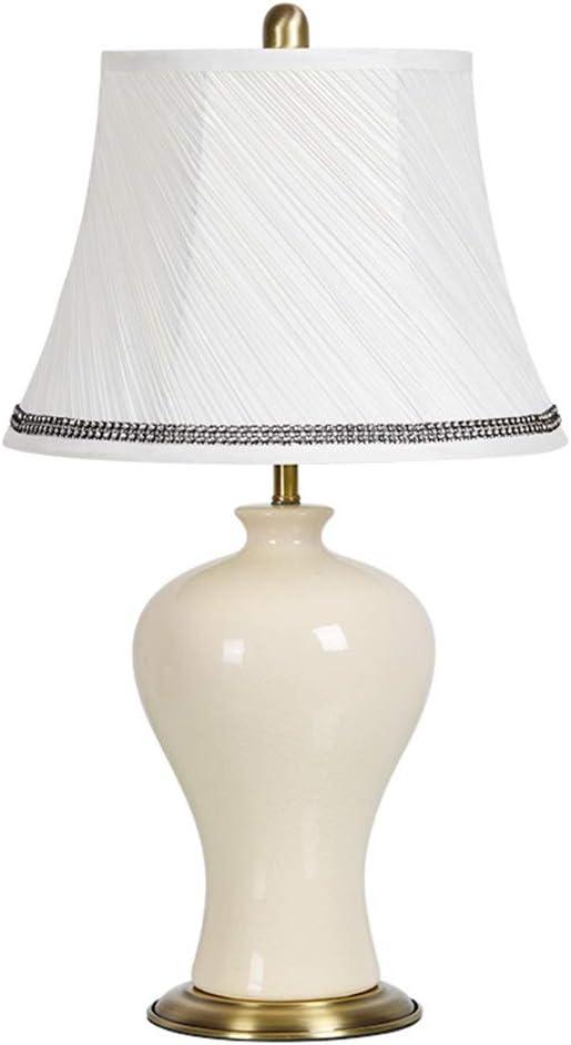 ZWeiD Lámpara de mesa de cerámica, dormitorio matrimonial retro ...
