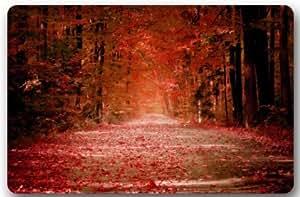 Outlet-Seller Custom Flaming Autumn Road Doormat