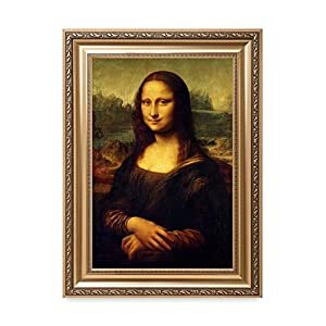 DecorArts - Mona Lisa by Leonardo DaVinci. The World Classic Art Reproductions. Giclee Print& Museum Quality Framed Art for Wall Decor. Framed size: 22x30""