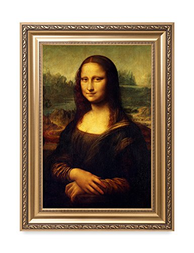 Lisa Smile Mona Painting - DECORARTS - Mona Lisa by Leonardo Davinci. The World Classic Art Reproductions. Giclee Print& Museum Quality Framed Art for Wall Decor. Framed Size: 22x30