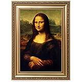 DECORARTS - Mona Lisa by Leonardo Davinci. The World Classic Art Reproductions. Giclee Print& Museum Quality Framed Art for Wall Decor. Framed Size: 22x30