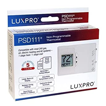 Amazon.com: LUXPRO PSD111 Series Thermostat - Vertical Installation: Industrial & Scientific