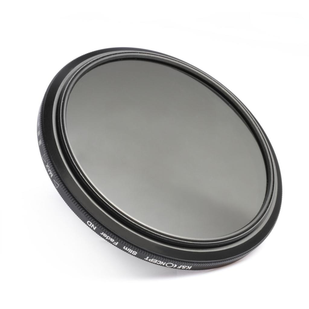 Original Filter Box K/&F Concept Professional 37mm Super Slim ND16 ND8 ND4 ND2 to ND400 Fader Variable Neutral Density Adjustable ND Lens Filter 37MM Digital SLR Cameras Lenses Cleaning Cloth