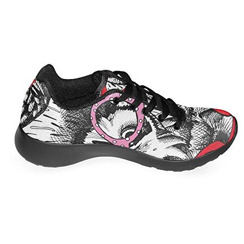 Interestprint Kvinna Jogging Kör Sneaker Lättvikts Gå Gång Casual Komfort Sports Löparskor Gulliga Ugglor I Glas Multi 1