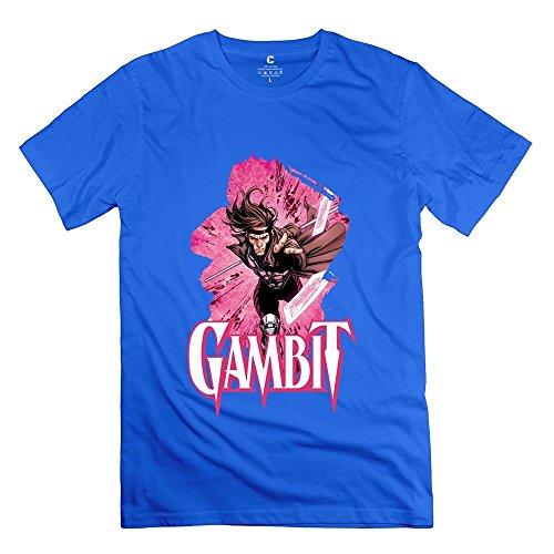Men's Gambit X Men O-neck Tshirts Size M RoyalBlue