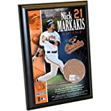 MLB Baltimore Orioles Nick Markakis 4-by-6-Inch Dirt Plaque