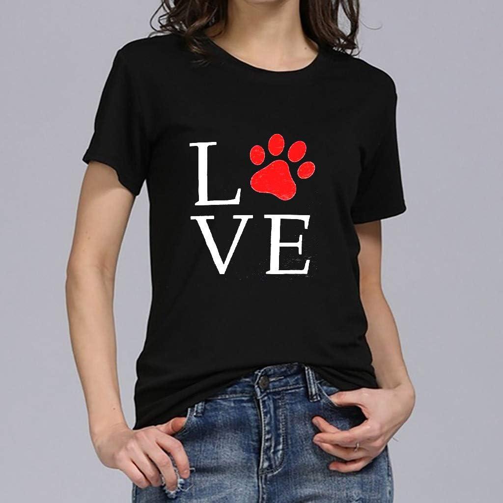 Girls /& Womens Chic Unique Plus Size Print Tees Shirt Short Sleeve T Shirt Blouse Tops