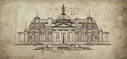 Exercise in Architechure by Sidney Paul and Co. Laminated Art Print, 24 x 11 inches