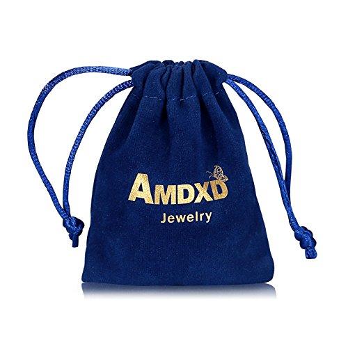AMDXD 10 Piezas Mujeres Midi Anillo Zirconia Elefante Flor de Loto Vintage Plata Bohemia Anillo Juego