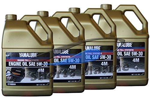 Yamaha Yamalube Four Stroke 5W-30 Full Synthetic Outboard Motor Oil (4 Gallons) (Yamaha Four Stroke)