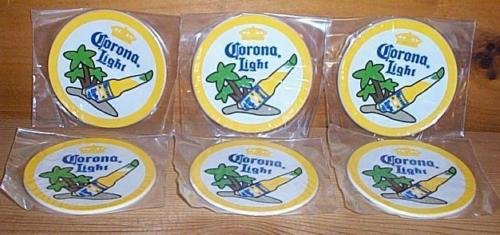 Corona Light Bar Coasters Spill Mats Set of ()