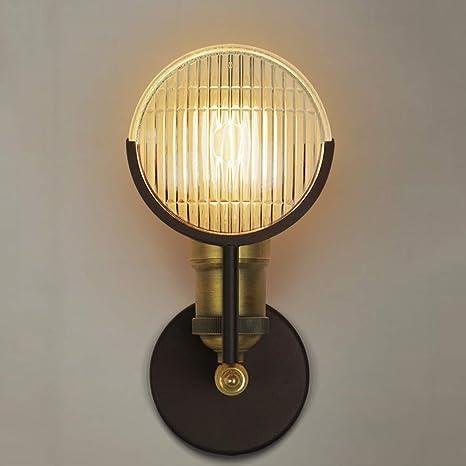 cbjktx aplique E27 Lámpara de pared Hierro pared Foco Salón ...