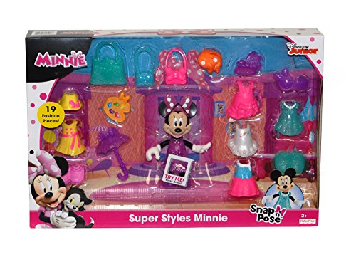 Fisher-Price Disneys Minnie Mouse Super Styles - 19 Fashion Pieces - Snap n Pose