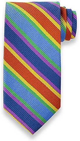 Paul Fredrick Men's Stripe Woven Silk Tie