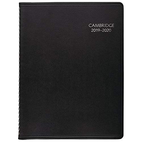 "Cambridge 2019-2020 Academic Year Weekly & Monthly Appointment Book/Planner, Large, 8"" x 11"", Business, Black (CAW60205)"