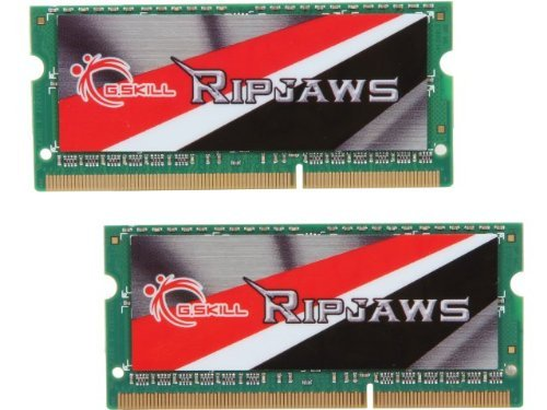 G.SKILL Ripjaws Series 8GB (2 x 4GB) 204-Pin DDR3 SO-DIMM 1600 (PC3 12800) Laptop Memory Model F3-1600C11D-8GRSL by G.Skill
