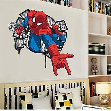 HOLnhyYY Spiderman De Dibujos Animados Tatuajes De Pared Extraíble ...
