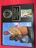 Brett Favre Green Bay Packers Collectors Clock Plaque w/8x10 HALL of FAME INDUCTION Photo and Card