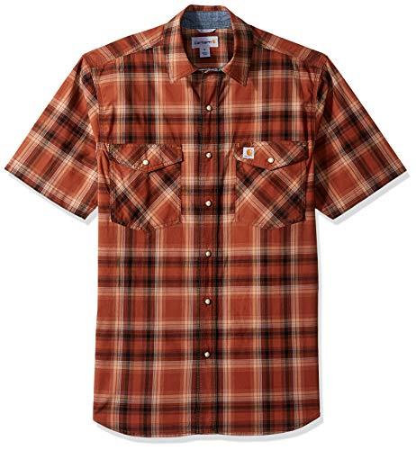 Carhartt Men's Rugged Flex Bozeman Short Sleeve Shirt, 220-Sequoia, Medium