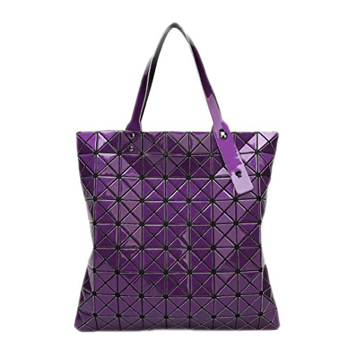 Bolsos blue Purple mujer Bolsos hombro cepillados de geometría de plegable mano de Bolsos de small Big wCAZIB4OqA