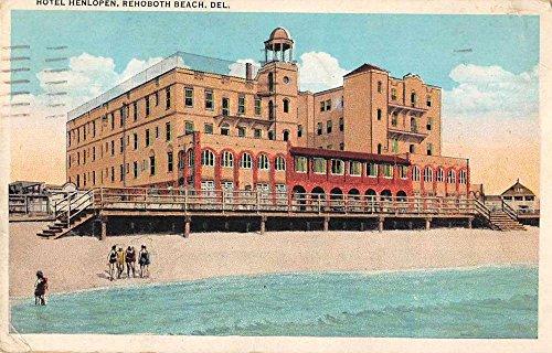 Rehoboth Beach Delaware Hotel Henlopen Exterior View Antique Postcard J70625