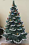 Vintage style EXTRA LARGE Nowell Rough Branch Ceramic Tree. 2 ring extenders and lighted base. 23'' Tall.