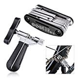 Bike Repair Tool Set (Bike Chain Splitter with Chain Hook +16 in 1 Multi-Function Mechanic Screwdriver Socket Wrench), Oumers Bike Bicycle Chain Tool for 7 8 9 10 Speed Chain Link Removal/Install