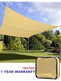 Quictent 20u0027 X 16u0027 Outdoor Rectangle Oversized Sun Shade Sail Canopy Patio  Garden Top