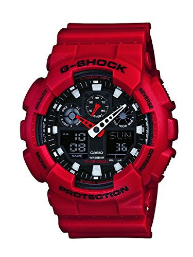 Baby G-Shock Ga-100 Watch Red  with Black Face