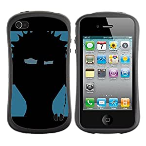 Paccase / Suave TPU GEL Caso Carcasa de Protección Funda para - Music Punk - Apple Iphone 4 / 4S