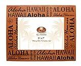 Aloha Hawaii Wood Picture Frame 5'' X 7''