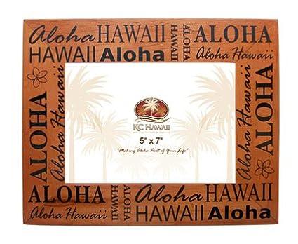 Amazon.com - Aloha Hawaii Wood Picture Frame 5\