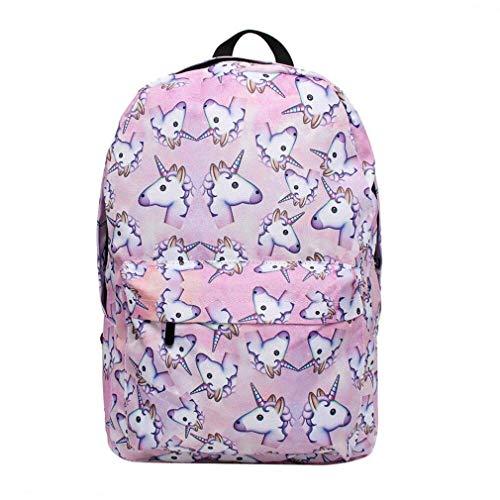 FORSHUYU Backpack 3D Printing Travel School Backpack for Teenage Girls