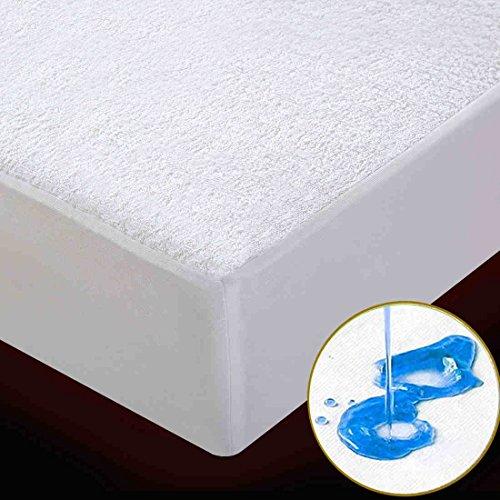 emium Twin Cotton Mattress Cover - Hypoallergenic Dust Mite Proof Mattress Protector - Fitted Mattress Pad - 10 Year Warranty - Vinyl Free ()