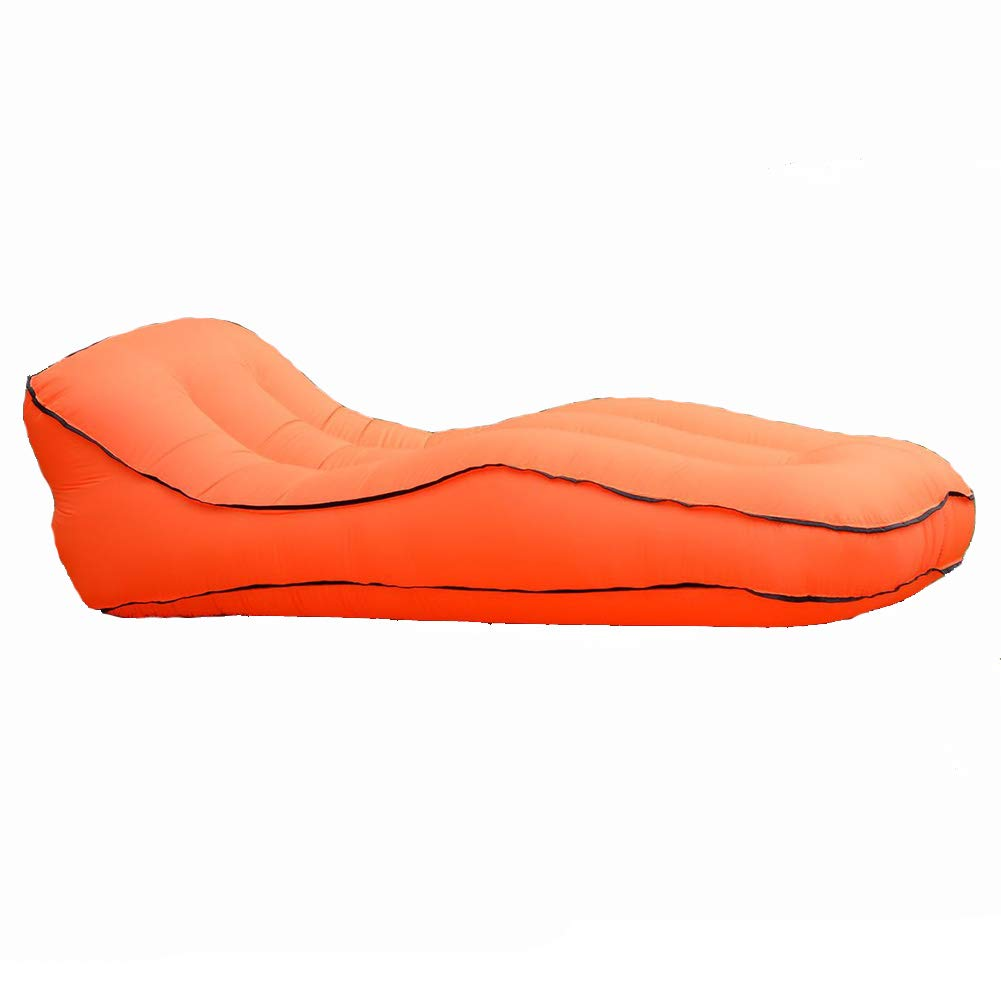 LPER Inflatable Lounger with Carrying Bag & Pockets for Indoors/Outdoors - Blow Up Couch & Inflatable Sofa with Headrest & Securing Stake- for Camping Beach Or Pool