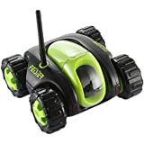 FEISIER CLOUD ROVER IV Cloud Companion RC Car Wi-Fi P2P Remote Control 1.3MP 720P HD Baby Monitor SPY Tank Car APP Control Movement Motion IP Camera Home Remote Camera with Charging Dock (Green)