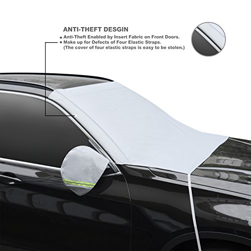 nosnow car windshield snow cover with winter ice frost full protection extra large thick. Black Bedroom Furniture Sets. Home Design Ideas