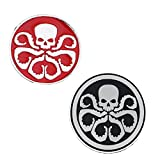 Fashion Jewelry ~ Small Hydra Skull Octopus Avengers Brooch Lapel Pin Set of 2