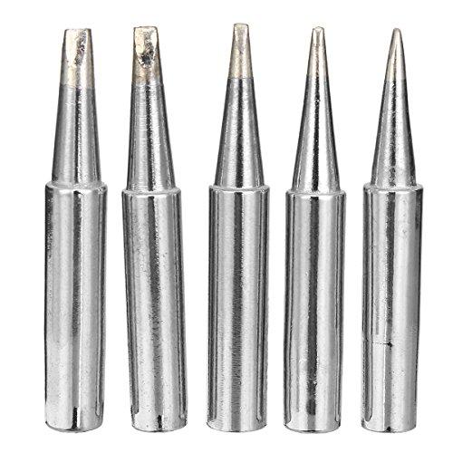 Farwind 5 Pieces 900M-T-0.8D/1.2D/1.6D/2.4D/3.2D Soldering Tips Iron...